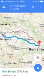 Budapest - Meresti terkep